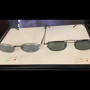 Vintage glasses with clip ons
